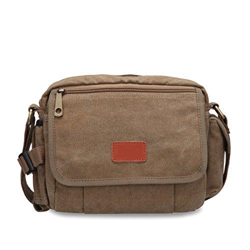 Canvas Messenger Bag Spalla Degli Uomini Della Cartella Del Sacchetto Di Scuola Di Lavoro,B-OneSize