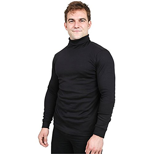 Turtleneck Shirt (Utopia Wear Men's Turtleneck Shirt, Large (Black))