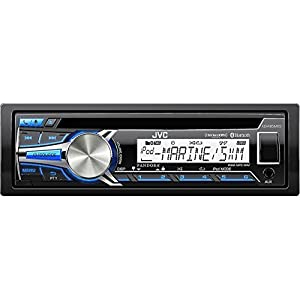 JVC Single-Din Car Stereo With Dual Aux Inputs, 3-Band Equalizer & 6 Station Presets