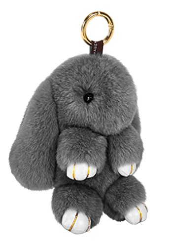 Cute Fluffy Rabbit Bunny Fur Keychain for Women Girls Pom Pom Car Key Chain Soft Plush Doll Ball Keyring Toy Handbag Purse Bag Cellphone Key Holder Charms Ring Decor Pendant Ornament Christmas Gifts by BXT (Image #5)