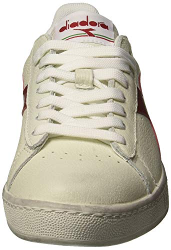 L Waxed rosso bianco Gymnastique Game Chaussures Blanc Peperone Diadora Low Adulte Cassé Mixte De RBqUFxww