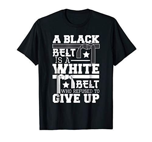 Full Contact Fighter T-shirt - A Black Belt Is A White Belt Funny Karate MMA Gift Tee Shirt