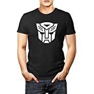 Men transformers autobot logo t shirt