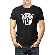 Men transformers autobot logo t shirt
