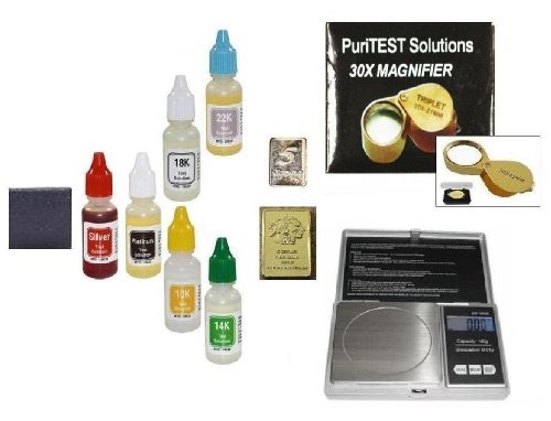 How to Test Your Own Scrap Jewelry, Bullion, Antiques and More! Complete Testing Kit with Electronic Scale,, and More!