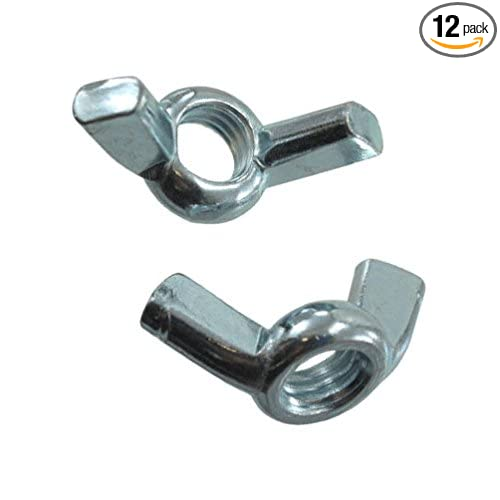 Pack of 12 10//24 Zinc Plated Cold Forged Wing Nuts