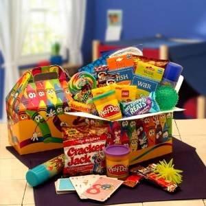 Kids Blast! Fun Activity and Snack Basket for Children