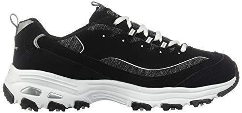 Deporte white Skechers 11936w Para Time D'lites Me De Negro Wide Zapatillas Mujer black 0FH07q