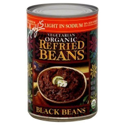 Amy's Light in Sodium Organic Refried Black Beans, 15.4-Ounce Cans (Pack of 12) ( Value Bulk Multi-pack) by Amys