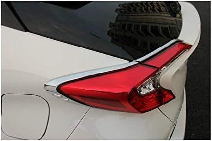 Rong-car1 Lot de 2 feux arri/ère en ABS chrom/é pour voiture C-HR 2017 2018 2019 2020