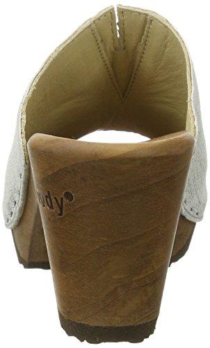 White Mules Woody Blanc 018 Femme Elly I50w5xq67