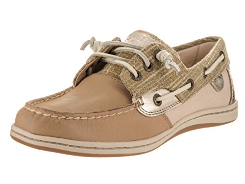 Sperry Top-Sider Women's Songfish Sparkle Sparkle/Linen Boat Shoe 8 Women (Sperry Sparkle Women)