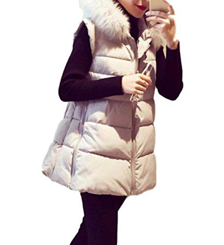 フラッシュのように素早く尾絶滅TongYiレディース ダウン ベスト ジャケット 大きいサイズ ロング 丈 フード付き 防寒 暖かい