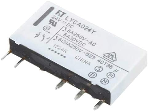 FTR-LYCA024Y Relay electromagnetic SPDT Ucoil24VDC 6A//250VAC 6A//24VDC