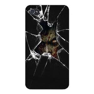 Apple Iphone Custom Case 4 4s Snap on - Zombie Apocalypse w/ Broken Glass