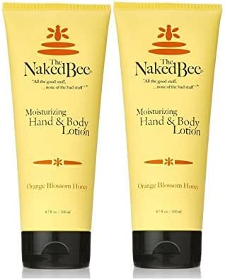 The Naked Bee Orange Blossom & Honey Hand and Body Lotion,6.7oz - 2 Pack