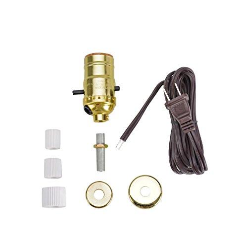 Aspen Creative 21016, Make-A-Bottle Lamp Kit in Polished Brass, 2 ()