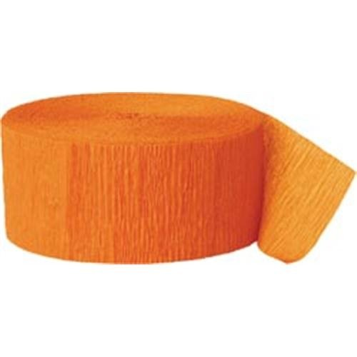 Unique Crepe Streamer 81 Feet 2/Pkg-Orange Notions - In Network UPSSTRM-63077