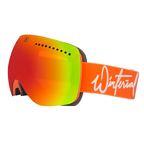 Winterial WNM3 Signature Magnetic Ski Goggles. Snowboard, Frameless, Interchangeable Lens INCLUDED! One Size Fits All, Case INCLUDED! (Goggles Signature Snow)