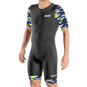 Triathlon Suits Mens – Tri Suits for Men with Sleeves – Trisuit Triathlon Men – Men's Tri Suit Kit – FX Aero Skinsuit…
