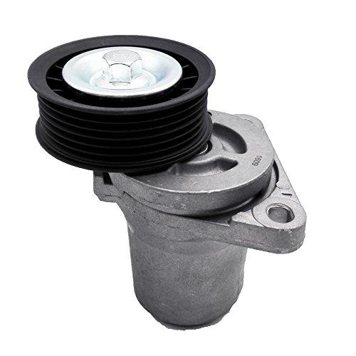 (JSD LFG115980B Belt Tensioner W/Pulley Assembly Fits Mazda 3 5 6 CX-7 CX7 2.3 2.5)