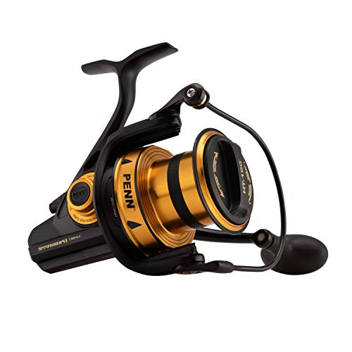 Penn Spinfisher VI Long Cast Spinning Fishing Reel, Black Gold, 7500