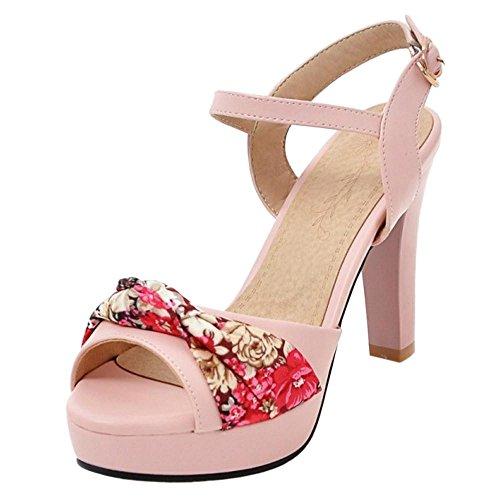 JOJONUNU Talons Chunky Femmes Sandales pink fZ1pqfR