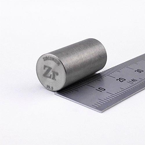 Pure Zirconium Metal Rod 99.5% 10grams 10 diameterx20mm Length Element Zr Sample