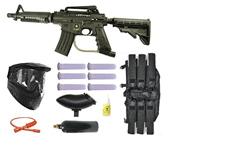 Wrek US Army Tippmann Alpha Black Tactical Paintball Gun Kit