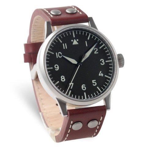 Laco Karlsrube ETA 2801 - Reloj de caballero automático, correa de piel color marrón