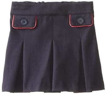 kc parker Little Girls' Knit Ponte Pleated Skirt, Navy, 4