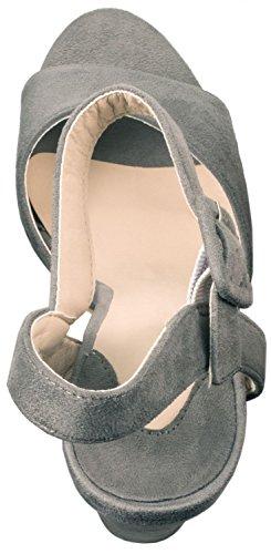 Elara - Tira de tobillo Mujer gris