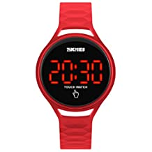 Fanmis Women's Sporty Design Multifunctional Analog Digital Waterproof Wrist Watch Pink
