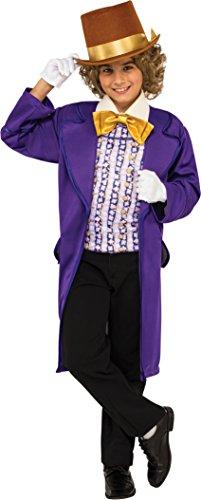 Rubie's Costume Kids Willy Wonka & The Chocolate Factory Willy Wonka Value Costume, (Chocolate Costume For Kids)