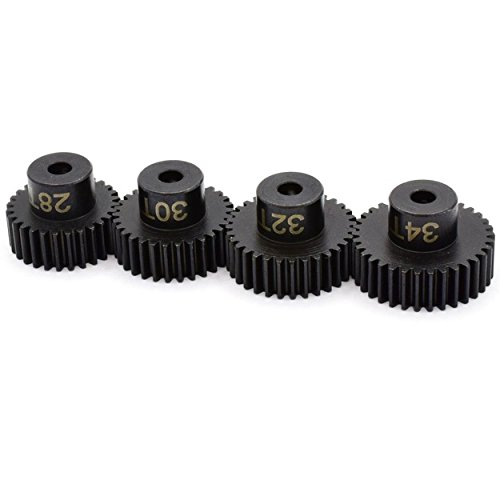 Pinion Gear Set (Hot Racing SSXS8024 Speed Tune Pinion Gear Set 28t 30t 32t 34t)