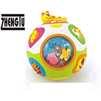ZHENGTU Educational Toddlers Musical Ball Toy with Automatic Rotation, Lights, Music, Animals Sounds Toys
