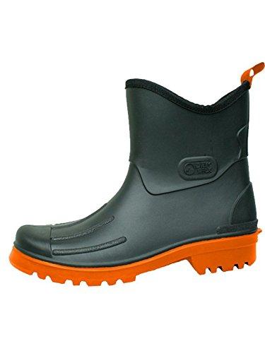 BOCKSTIEGEL® PETER Hombres - Cargadores del tobillo de goma | Tamaños: 41-48 Black/Orange