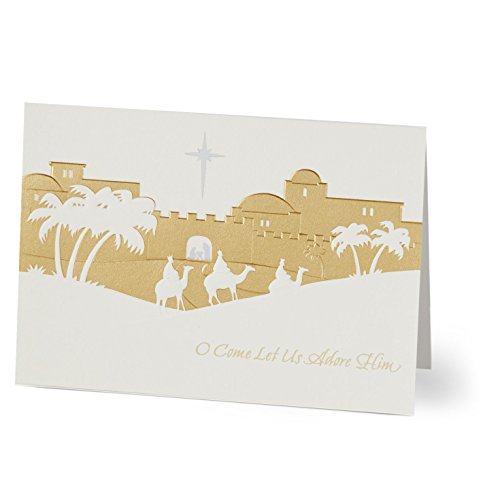 (Hallmark Business Christmas Card for Employees (Christmas Wisemen 3) (Pack of 25 Greeting Cards))