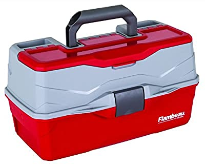 Flambeau Outdoor 6383 Classic 3-Tray Tackle Box, Red/Gray