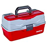 Flambeau Outdoors 6383 Classic - Caja de 3 bandejas, Color Rojo y Gris