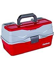 Flambeau Outdoors 6383 Classic - Caja de 3 bandejas, Color Rojo y Gris