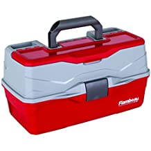 Flambeau Outdoors Flambeau Classic 3-Tray Tackle Box, Red
