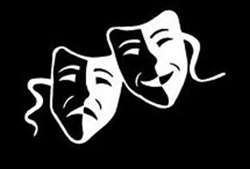 Theater Masks Decal Vinyl Sticker Cars Trucks Walls Laptop WHITE 6 X 4 In KCD391