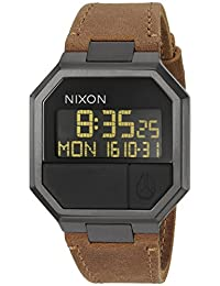 Nixon Men's 'Re-Run' Quartz Leather Watch, Color:Brown (Model: A944712-00)