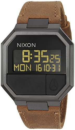 Nixon Men's 'Re-Run' Quartz Leather Watch, Color:Brown (M...
