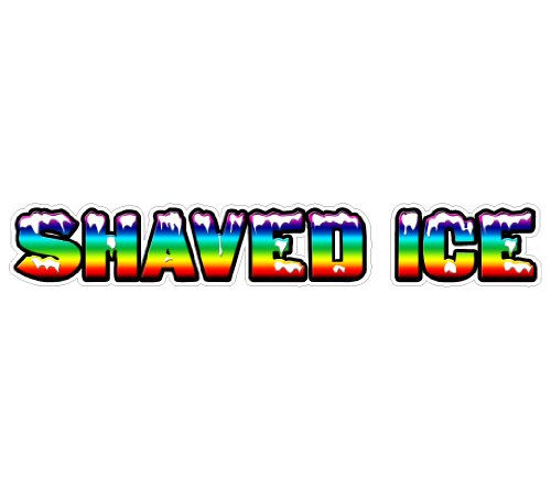 Shaved ICE Concession Decal Sticker Trailer cart Sign