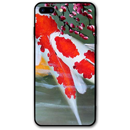 iPhone 7 Plus Case Koi Fish Scratch-Resistant Cover Skin Cover for iPhone 7 Plus 5.5 Inch ()