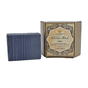 Ayana Wellness 'Flawless Black' Bar Soap - Handcrafted Artisan Organic Soap | Fancy Soaps Individually Wrapped & Ethically Made | Clear Oil from Pores & Reduce Acne | All Natural Face & Body Cleanser 76
