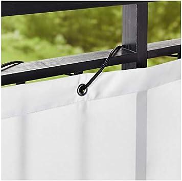 IKEA DYNING – Cortaviento/parasol, blanco – 250 x 80 cm: Amazon.es: Hogar