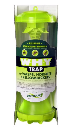 RESCUE! WHYTR Non-Toxic Reusable Trap for Wasps, Hornets and Yellow Jackets